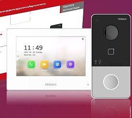 Комплект IP-видеодомофона HiWatch DS-D100IKWF